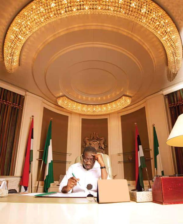 GEJ in the presidential office
