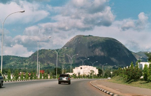 aso rock villa - another view from afar with aso rock
