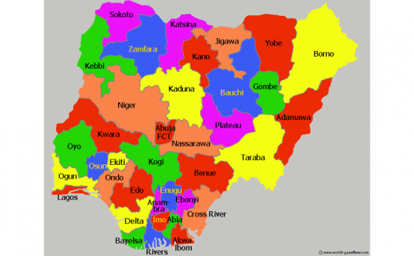 Size of Nigeria and Her 36 States