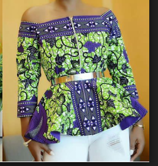 Off-shoulder Ankara Tops: ([year]) Latest Styles