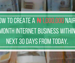 How to Make ₦1,000,000 In The Internet Business Within the Next 30 Days